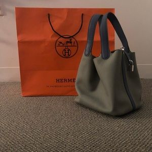 Hermès leather handbag